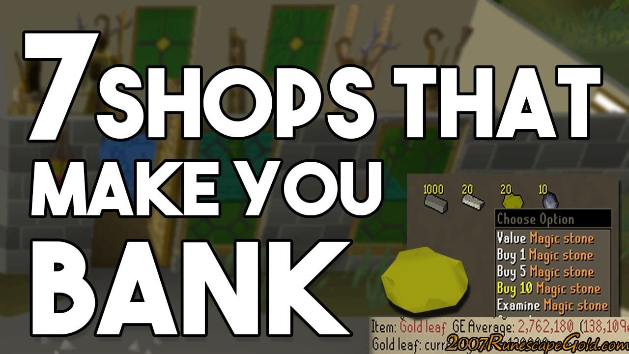 Best Shops In OSRS You Can Make Money From