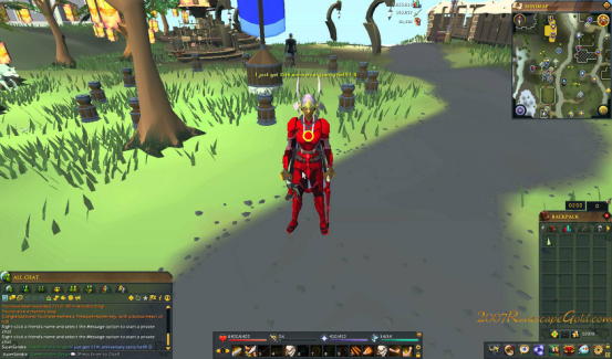 white party hat on RuneScape3 and I love it