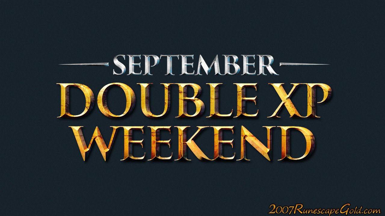 Next Runescape Double XP Weekend Announced